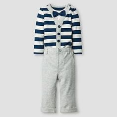 f904366a5 Baby Boys' Little Man Bowtie Striped Bodysuit and Pant Baby Cat & Jack™ -