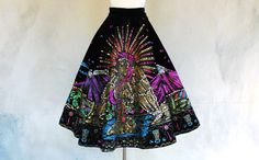 Vintage 40s Hand Painted Mexican circle skirt by circa1955vintage