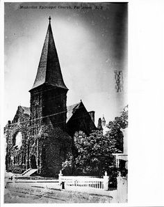 Methodist Episcopal Church.  Located at the corner of S. Ocean Avenue and Church St..  Note its ivy  covering.