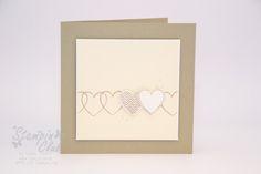 Stampin Up Card Wedding Karte Hochzeit Hearts a Flutter Framelits Herzen und Wimpel from www.stampinclub.de