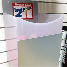 I thought the Slatwall Mount Bulk Bin for Field Hockey Balls a unique approach that matched nearby Field Hockey Sticks on Slatwall Faceouts. Sales seemed brisk given the drawdown of stock, so Slatw…