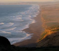 Perfect hour to view a winter sea.  Point Reyes National Seashore, CA