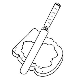soup and sandwiches coloring pages - photo#13