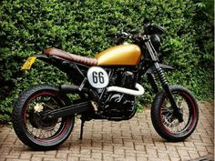 Scrambler Suzuki from The Netherlands Suzuki Scrambler, Street Scrambler, Custom Motorcycles, Custom Bikes, Cars And Motorcycles, Tracker Motorcycle, Cafe Racer Motorcycle, Dr 650, Cb 500