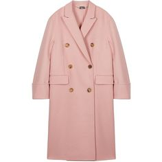 Womens Long Coats Alexander McQueen Pink Cashmere And Wool Blend Coat ($3,500) ❤ liked on Polyvore featuring outerwear, coats, wool blend coat, wool cashmere blend coat, pink coat, alexander mcqueen and long wool blend coat