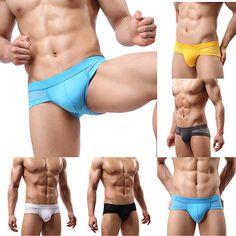 cd87f718b243e Men's Sexy Mesh Modal Triangle Underwear Breathable Solid Briefs Underpants  - B E S T Online Marketplace - SaleVenue