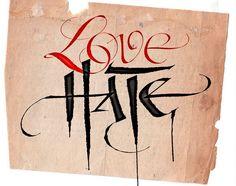 ¿Por qué odiar si se puede amar? No merece la pena odiar a nadie, eso es fácil, motivos seguro que hay. Lo difícil es querer a aquél que no te quiere y amar al que te ha hecho daño. Y que no nos pase como en esta imagen, que el odio pesa más que el amor.