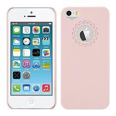 rosa, cassa dura del PC con fiore incisione e il cuore del sito a forma di buco per 5/5s iphone – EUR € 1.59