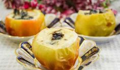 Apples with prunes in sour cream # sweets and desserts
