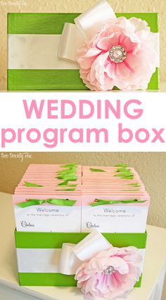 How to make an inexpensive wedding ceremony program box in less than an hour!