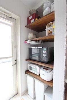 Closet Organization, Kitchen Organization, Small Space Living, Small Spaces, Kitchen Pantry, Kitchen Decor, Vintage Laundry, Natural Interior, Japanese House