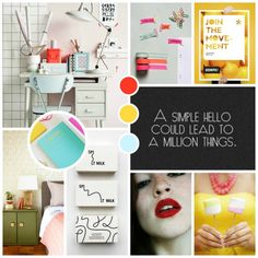 NOT VERY OBSESSED: VIBRANT MOODBOARD
