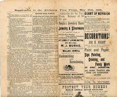 Victorian newspaper