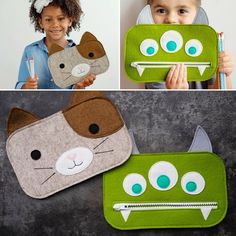 These cuties love their back to school zipper pencil pouches! Find the template…