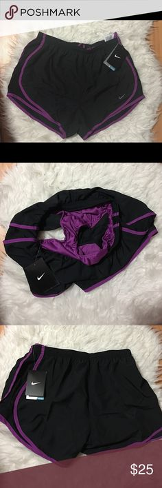 NIKE Running Shorts Nike woman running shorts, inside section, great for working out, running, quick trips, lounging! I didn't even realize the size when I picked it up because it was on a large (size) hanger  any questions don't hesitate to ask.size S Nike Shorts