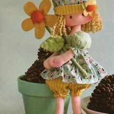Patrón de muñeca con flor