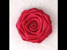 Ribbon Rose, Tutorial, DIY - YouTube