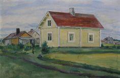 Kalle Aaltonen. Keltainen talo. Öljy kankaalle. 1939? Painting, Art, Art Background, Painting Art, Kunst, Paintings, Performing Arts, Painted Canvas, Drawings