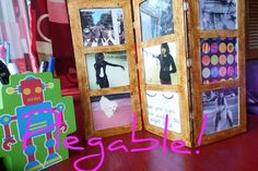 PORTARETRATOS plegable- jess ♥ Scrapbook, Instagram, Frame, Crafts, Diy, Home Decor, Youtube, Projects, Manualidades