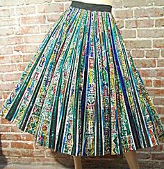 Current obsession: 1950's Mexican hand-painted dresses/skirts