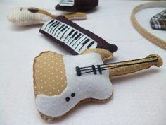instrumentos musicais de feltro - Pesquisa Google