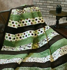 The Frat Wrap Snuggler Minky Quilt Pattern Download by Seven Brides Designs