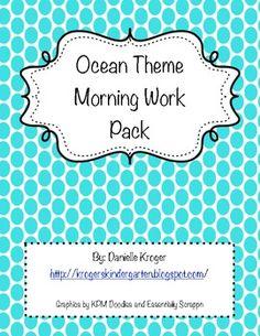 Ocean Theme Morning Work