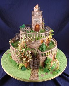 Romantic Garden Wedding Cake