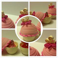 Quilled Treasure Box-- Sweetheart Cupcake