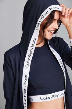Calvin Klein For UO Flyaway Hoodie Sweatshirt - Urban Outfitters