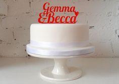 Personalised Name Wedding Cake Custom Made Cake by MissSarahCake, £22.99