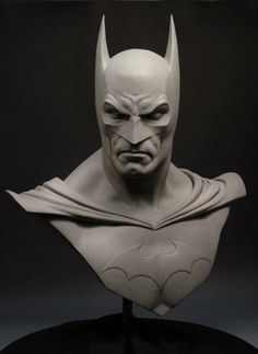 This was a life-size bust of Batman produced by Sideshow Collectibles and licensed by DC Entertainment. The bust was originally sculpted in WED clay,… Batman Love, Batman Art, Batman Comics, Sculpture Head, Sculptures, Life Size Batman, Comic Book Characters, Comic Books, Batman Kunst