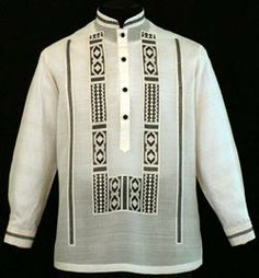Expertly made in the finest Jusi fabric with ethnic embroidery design, our premium Barong Tagalog provides only the best in quality and construction.Color: Beige/EcruChinese Collar, cuff buttonsTraditional four black covered button frontFormal fit Barong Tagalog, Filipiniana Dress, Philippines Fashion, Tribal Costume, Groomsmen Suits, Line Shopping, Mens Fashion, Fashion Outfits, African Fashion