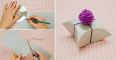The Perfect DIY Easy Square Pillow Paper Gift Box - http://theperfectdiy.com/the-perfect-diy-easy-square-pillow-paper-gift-box/ #DIY, #Giftidea