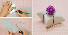 DIY Easy Square Pillow Paper Gift Box, HAVE FUN ! :)  Instructions &video--> http://wonderfuldiy.com/wonderful-diy-easy-square-pillow-paper-gift-box/