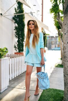 Romper and blazer by Finders Keepers The Label, bag by Alexander Wang, shoes by Chloe. (kayture.com, May 6, 2014)