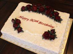 elegant+red+roses+sheet+cakes   Elegant Red Gumpaste Fondant Roses Cake
