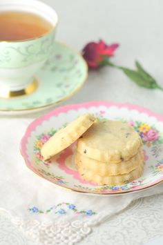 These lavender shortbread cookies are flavoured with a hint of floral lavender. Don't worry, they don't taste like soap.