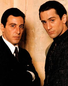 Al Pacino and Robert De Niro  So young! As I was when they were.