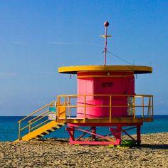 South Beach, Miami lifeguard hut