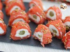 Salmon Rolls with Goat Cheese - video recipe !, Recipe Petitchef