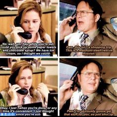 Pam and Dwight have the best friendship on The Office change my mind Office Humor, Office Quotes, Work Humor, Work Funnies, Funny Office, The Office Show, Paper People, Best Friendship, Michael Scott