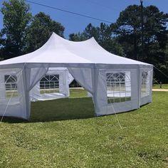 Backyard Tent Wedding, Small Backyard Weddings, Patio Wedding, Rustic Wedding, Air Tent, Moon Wedding, Dream Wedding, Outdoor Dinner Parties, Cute Wedding Ideas