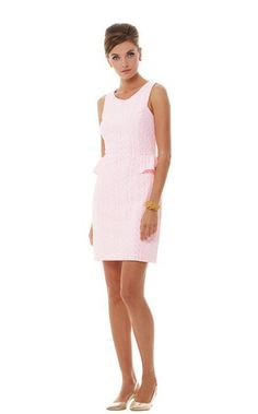 LILLY PULITZER Abby Dress Pop Pink Draper Lace Sz S NWT Retail: $198 #LillyPulitzer