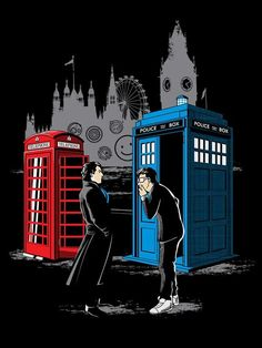 CABINS COLLIDE T-Shirt $12 Doctor Who tee at Once Upon a Tee!