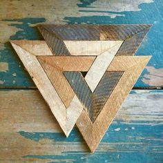 Woodworking Plans Projects Norse trinity made from recycled lath.Woodworking Plans Projects Norse trinity made from recycled lath. Into The Woods, Diy Wood Projects, Wood Crafts, Simple Woodworking Projects, Diy Holz, Barn Quilts, Wood Design, Wood Wall Art, Diy Wall Art