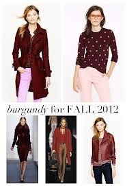 Burgundy for fall 2012