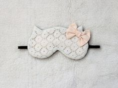 Naomi Lingerie Flower Cotton Lace Cat Sleep Mask Moss Phlox, Cat Sleeping, Cotton Lace, White Flowers, Handmade Items, Etsy Seller, Eyes, Lingerie Accessories, Creative