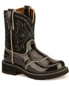 Gem Baby Boots | Ariat Gem Baby ATS® Blk/Ruby Pearlized Lizard ...