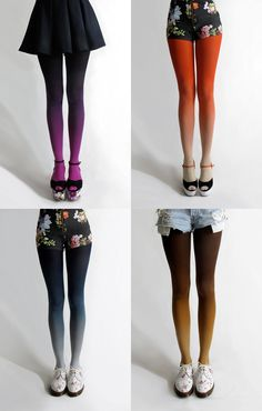 Do it yourself! Use Jacquard dyes on white nylon tights.